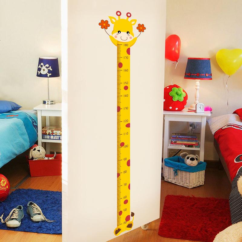 儿童身高宝宝测量尺卡通贴画墙纸