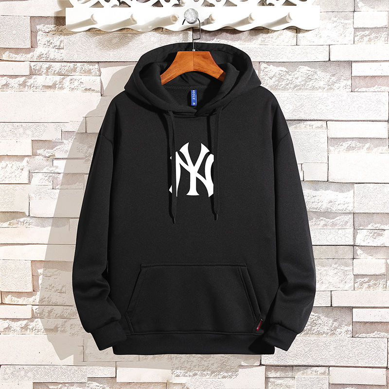 Sweater mens and womens Hoodie NY long sleeve loose casual sports Plush autumn and winter fashion trend logo top