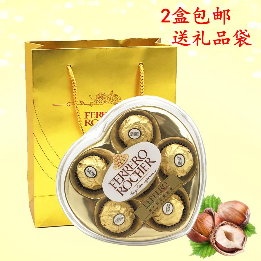意大利进口费列罗巧克力6粒心形礼盒装婚庆喜糖节日礼物送礼品袋图片