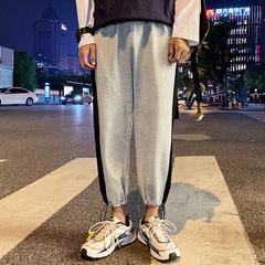 港风休闲裤男秋季薄款九分裤小脚裤子A129-K12P45控价68