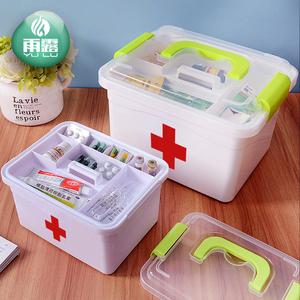 家庭装小医药用多层急救药品收纳盒家用塑料儿童药箱医疗薬箱出诊