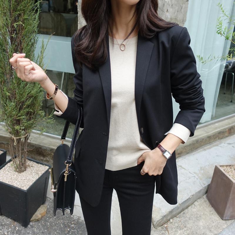 蕾可妮斯小西装女2018新款春秋女士西服甜美简约外套长袖韩版修身
