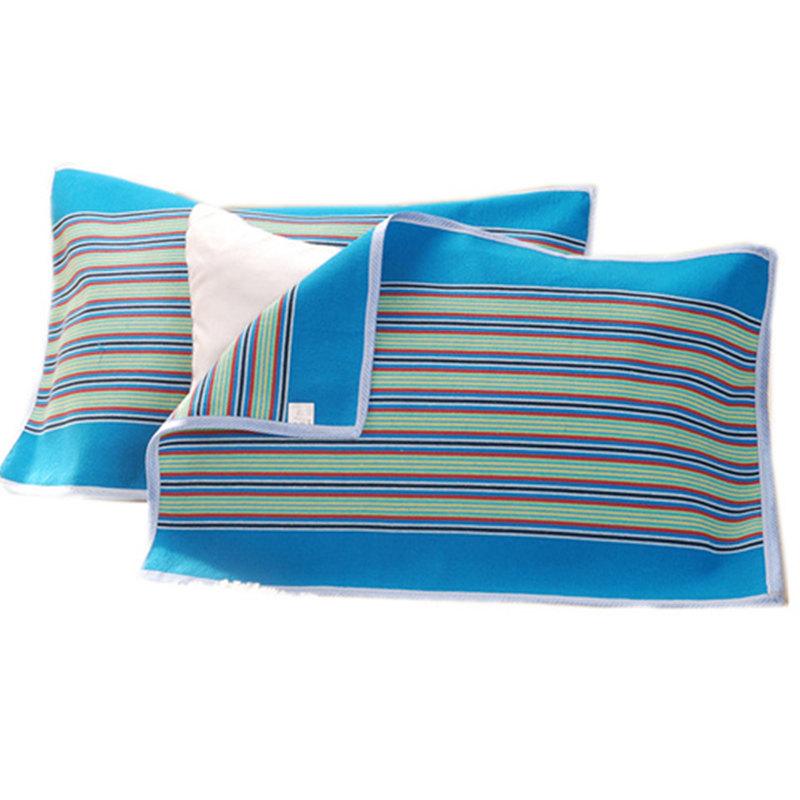 【不易滑落】【一对装】老粗布枕巾单人透气加厚防螨四季棉布枕巾