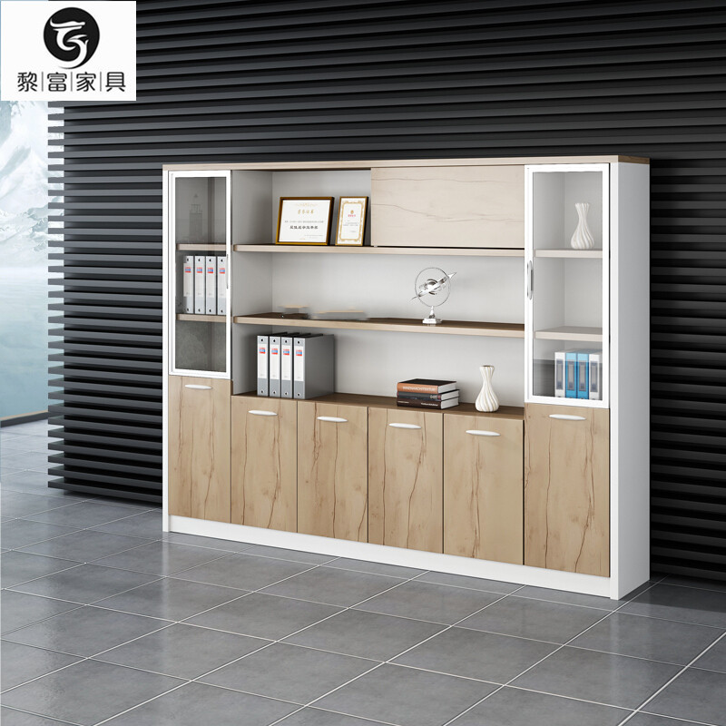 Furniture new fire prevention other file cabinets simple modern wooden data cabinet glass door office storage cabinet