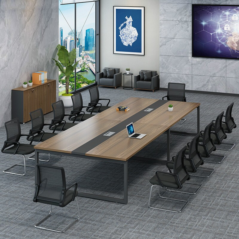New office chair other assembly with wire box Li Fu furniture simple modern conference table and chair combined table