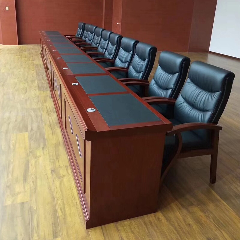 New furniture other assembly rostrum training table long table and chair combination lecture platform solid wood room conference table