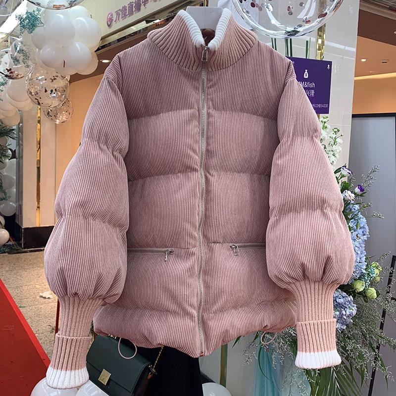 棉袄2019年新款冬季棉衣女韩版宽松学生灯芯绒棉服短款面包服外套