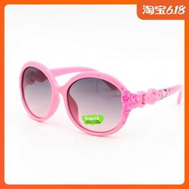 儿童太阳镜女韩国可爱蝴蝶结潮宝宝防紫外线韩版眼镜个性小孩墨镜图片