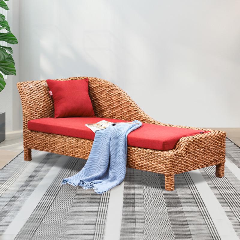 藤编贵妃椅简约小户型贵妃躺椅轻奢沙发床单人榻新中式卧室美人榻