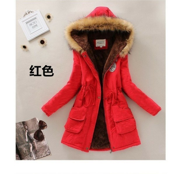 Winter clothes women cotton jacket Korean version of the long section cotton Women yards female student was thin waist coat jacket children