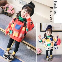 2020新款女童卫衣套装女宝宝秋冬装衣服韩版洋气两件套装加绒潮服