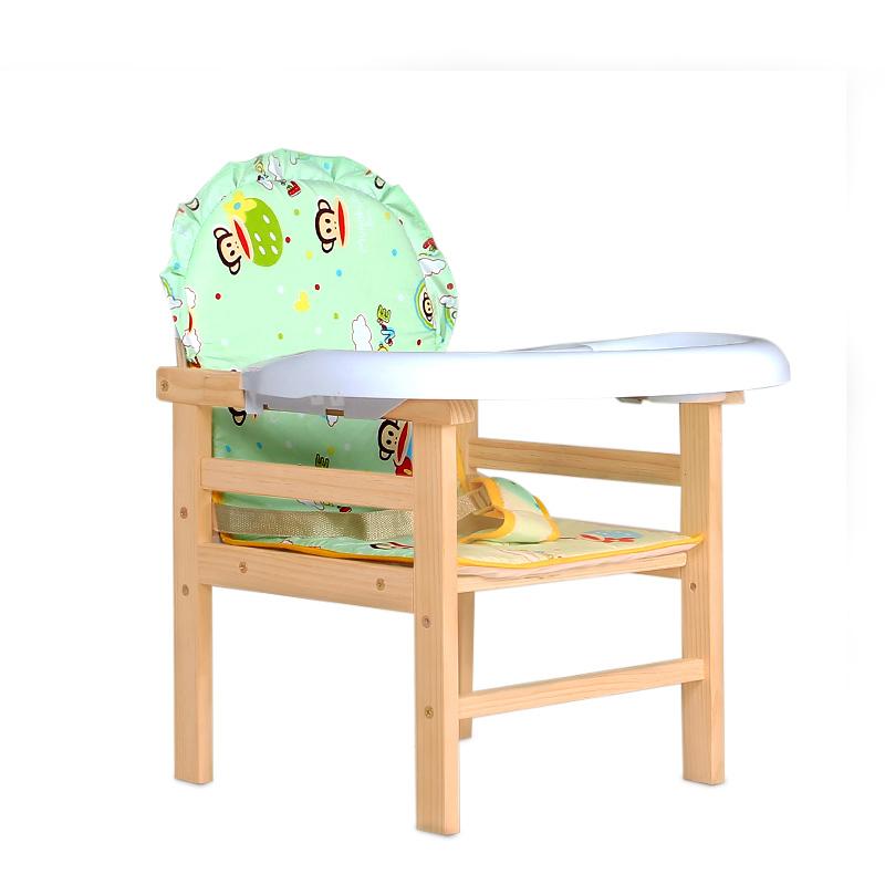 左樂實木兒童餐椅 寶寶餐椅 嬰兒吃飯桌椅 環保無漆 小孩吃飯椅子