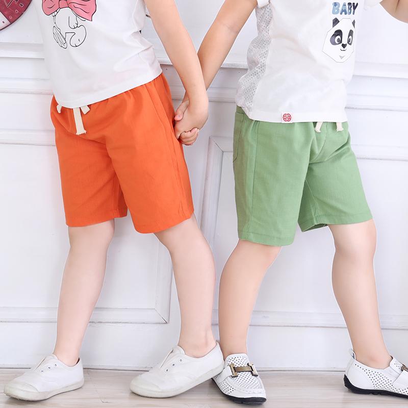 【蜜羊羊】夏款儿童短裤棉麻中裤券后9.9元包邮