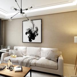 亚麻素色无缝墙布现代简约新中式北欧客厅卧室背景墙全屋棉麻壁布图片