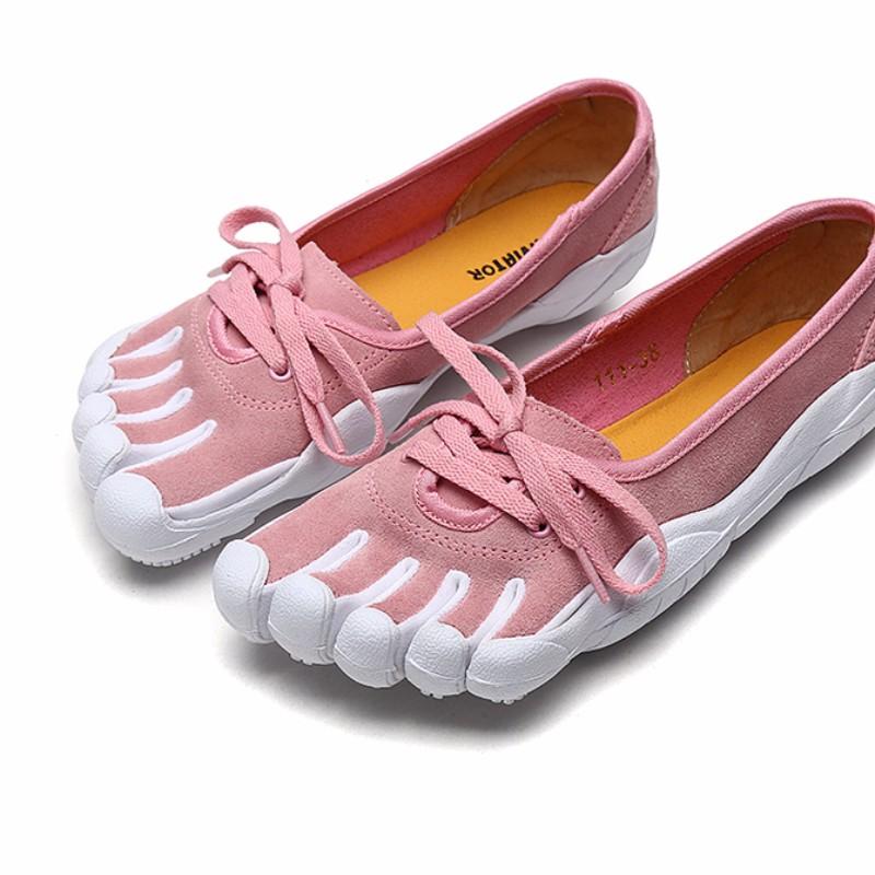 女人紫色小牛五指鞋女士橡胶女舞蹈鞋女姓减震黑色户外鞋袜皮鞋