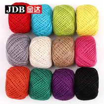 Jin da Decorative Rope Hemp Thread Woven material packaging bundled fine rope handmade diy rope rope Decorations