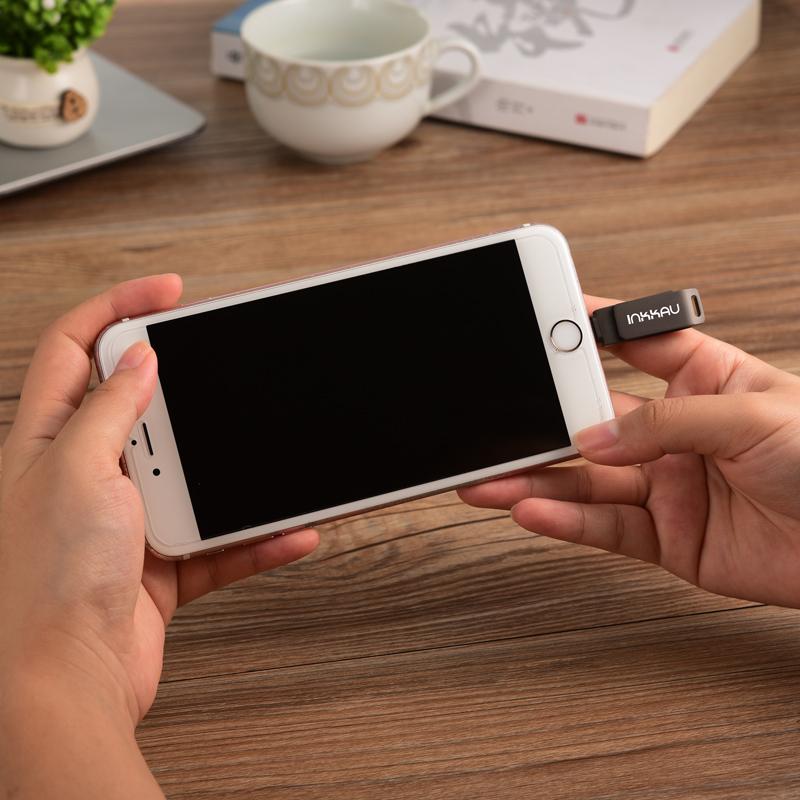 苹果手机接口U盘128G外接扩容器迷你定制刻字iphone电脑两用优盘,可领取5元天猫优惠券