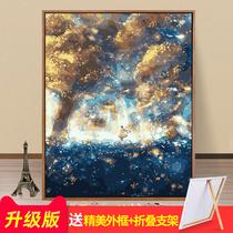 客厅大幅横版立体挂画田园风景向日葵画现代装饰画纯手绘丰收油画