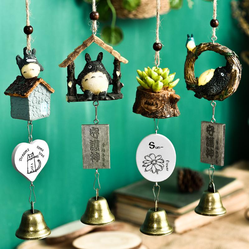 挂饰小清新铜铃铛植物日式创意风铃