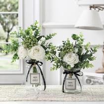 假花摆件客厅卧室内摆设塑料仿真干花束装饰品小盆栽家居茶几花艺