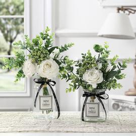 仿真花束假花客厅装饰摆件北欧ins绢花餐桌花玫瑰花套装花艺摆设图片