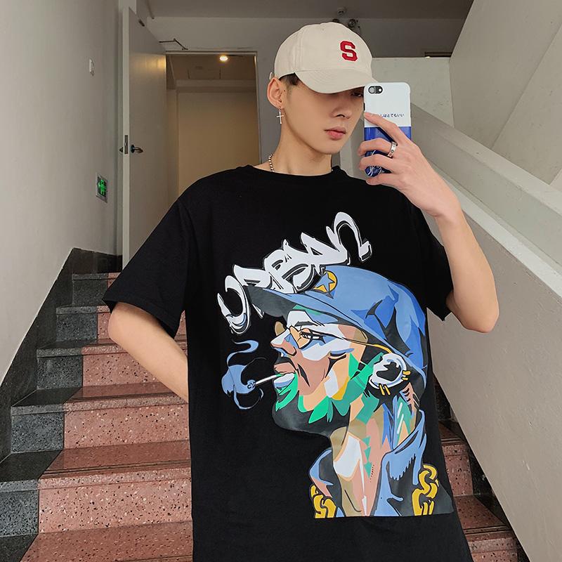 9005   P35    2019新款港风潮流个性帅气学生T恤