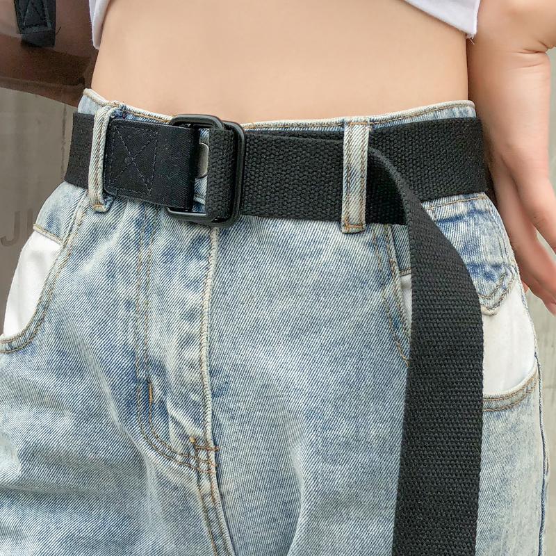 年轻人学生ins风潮个性男裤带韩版皮带女牛仔裤百搭潮人帆布腰带