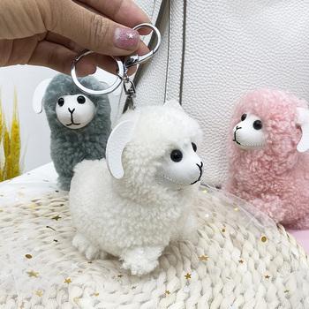 小云朵真羊毛可爱小绵羊钥匙钥匙扣