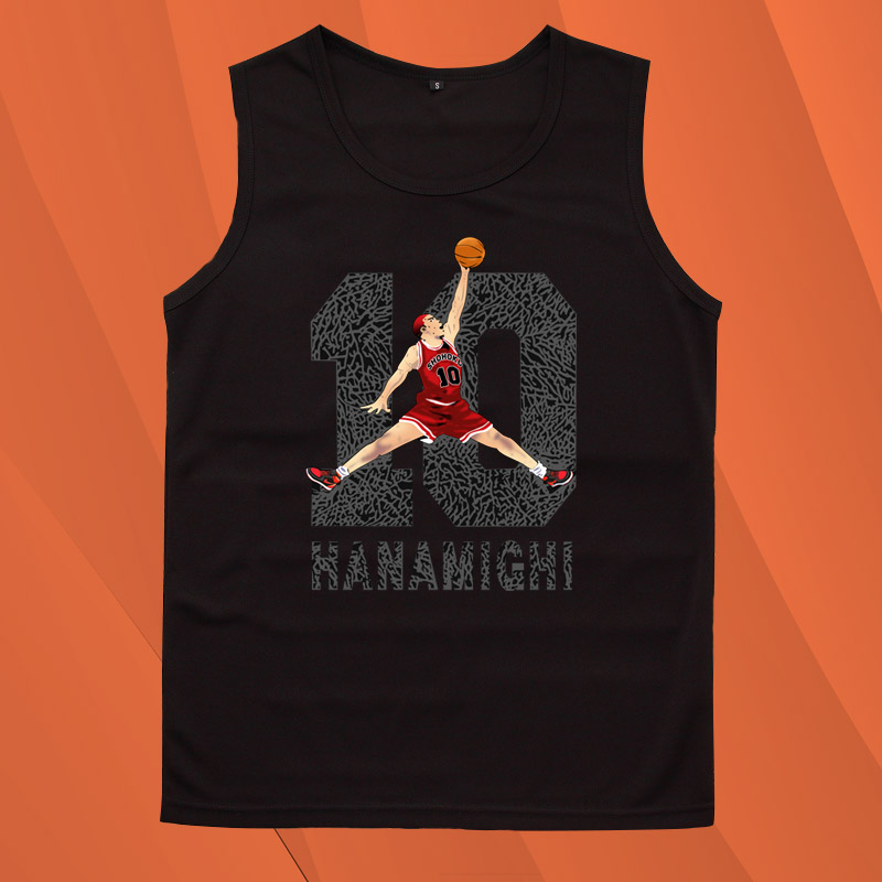 灌篮高手流川枫樱木花道同款10号篮球衣服动漫周边男学生背心T恤