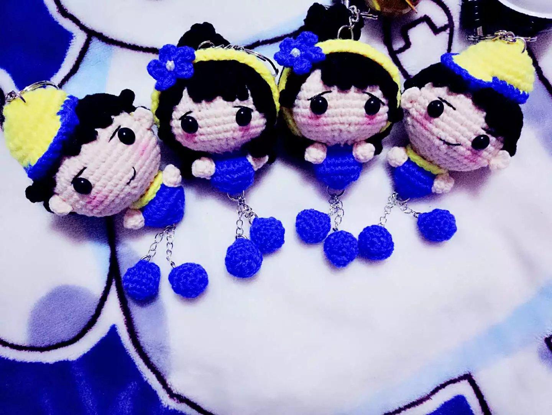 Yoko вязание крючком ткать шерстяной куклы diy синий любители конечный продукт производство мультфильм про животных кукла кукла инжир решение