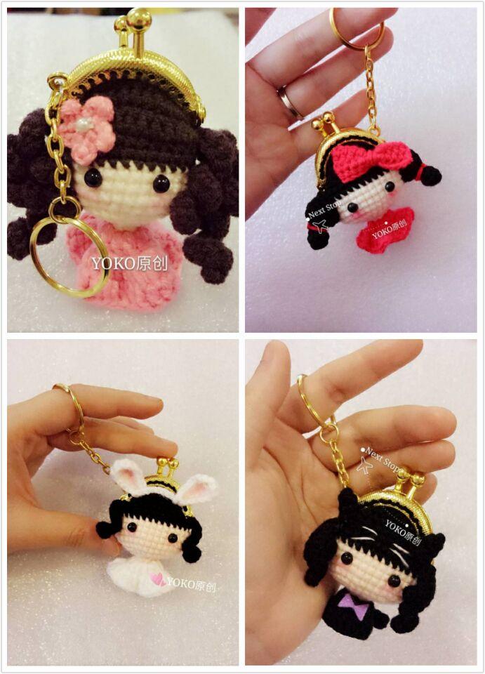 Yoko вязание крючком ткать шерстяной куклы diy4CM золото конечный продукт производство мультфильм про животных кукла кукла инжир решение