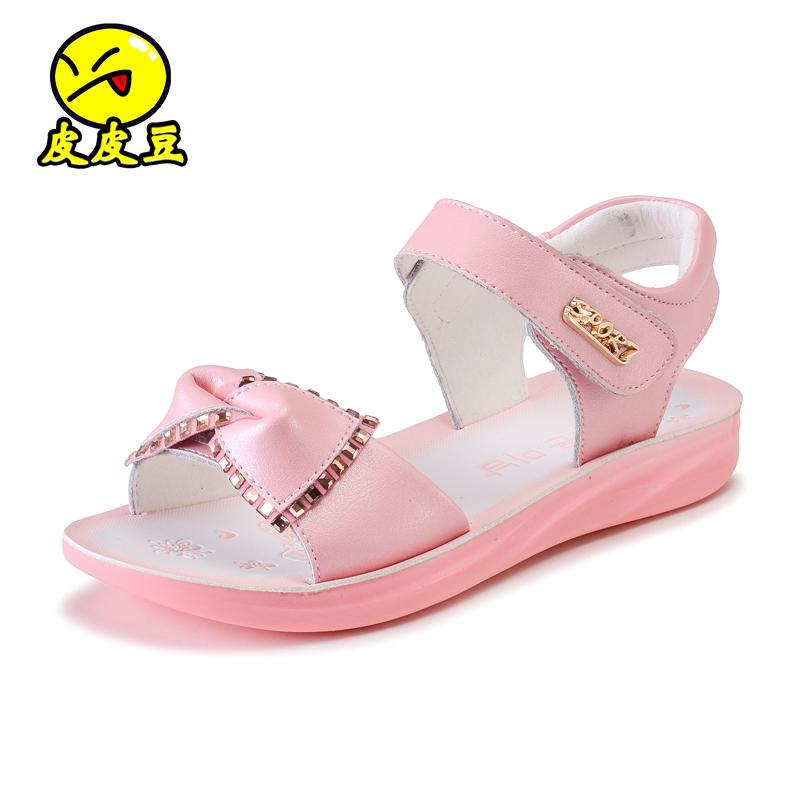 2016 童鞋女童涼鞋 可愛學生蝴蝶結公主鞋兒童涼鞋