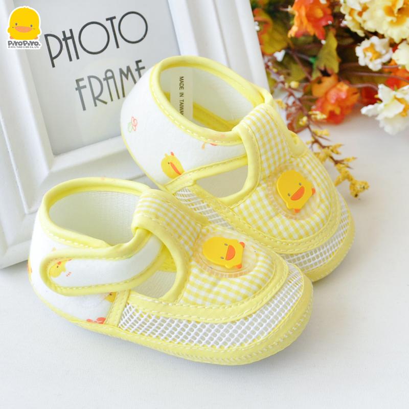 黄色小鸭初生学步鞋春夏新生儿鞋子