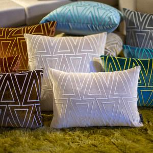 北欧立体刺绣抱枕套样板房靠枕定做长方形腰靠包客厅沙发床头靠垫