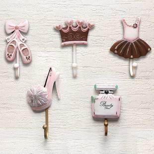北欧INS创意墙上钥匙挂钩壁挂装饰少女心挂衣勾架衣帽钩艺术墙饰
