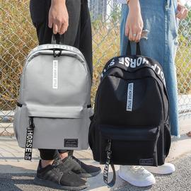 简约女书包双肩包韩版学院风高中小学生电脑包休闲旅行潮流背包男图片