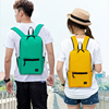 Backpack men and women Simplicity leisure time student a bag Mini motion knapsack light capacity outdoors Travelling bag