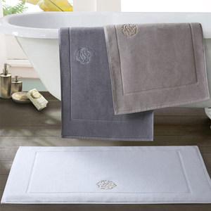 五星级酒店地巾浴室纯全棉卫生间门口吸水毛巾地垫小号地毯踩脚布