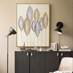 DUDUO都多|现代简约纯手绘油画 卧室客厅玄关装饰画 美式轻奢挂画