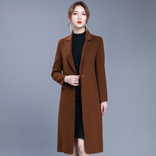 New winter clearance double sided wool medium long double sided cashmere overcoat thickened women's slim waistcoat