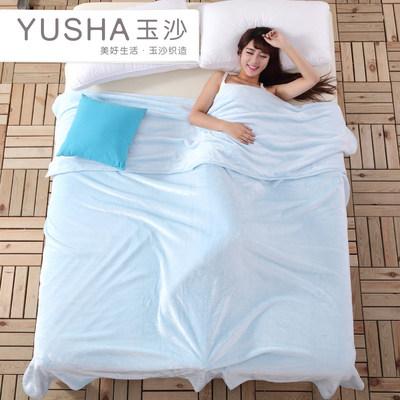 玉沙素色毛毯加厚珊瑚绒毯子床单夏季法兰绒空调毯学生盖毯