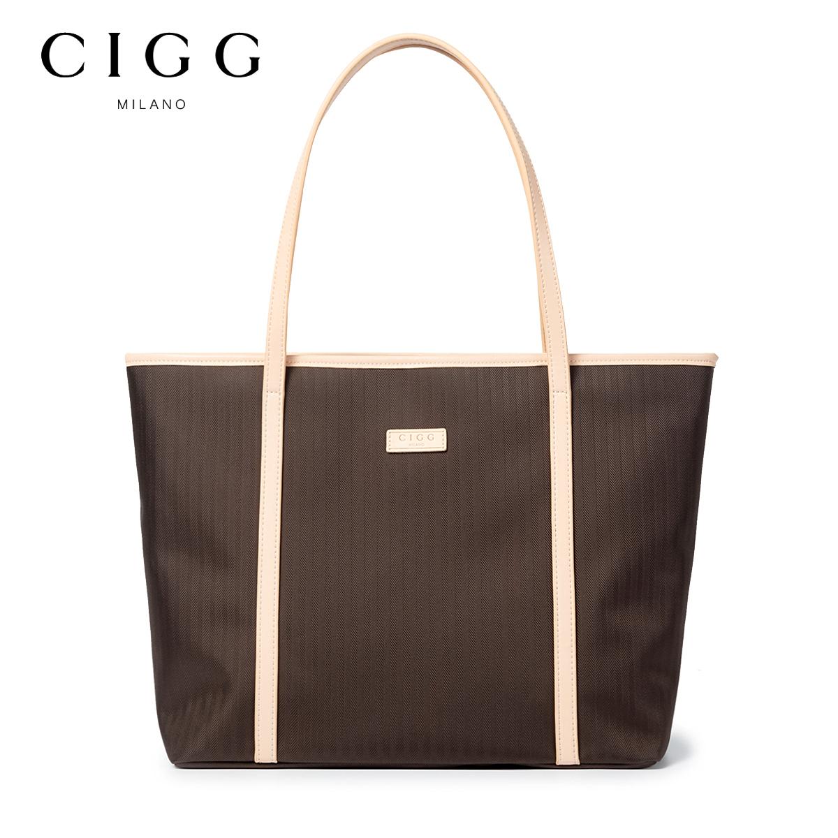 CIGG女包包牛津布包新款2019托特帆布包袋尼龙大容量手提单肩包女