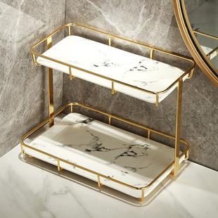 卫生间浴室厕所轻奢桌面梳化妆用品洗手脸洗漱台面置物架收纳架盒品牌