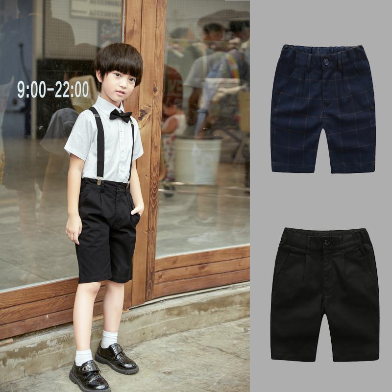 需要用券儿童黑色短裤男童夏季簿款校服套装