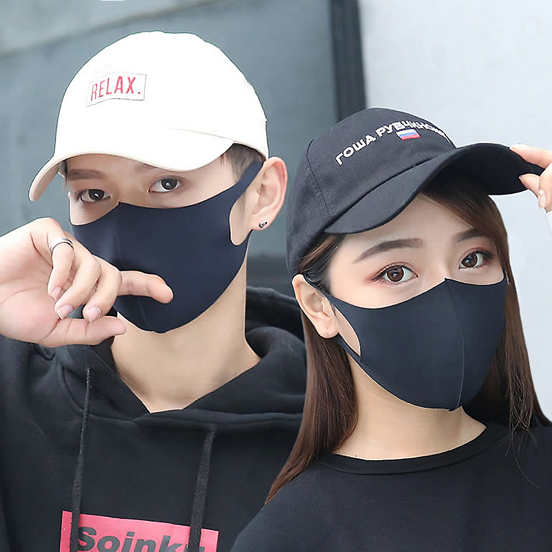 Mask men and women fashion personality black star same mesh red thin sunscreen anti UV breathable cloth can be cleaned