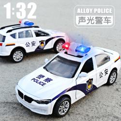 儿童警车玩具模型仿真小汽车车模男孩合金救护车警察车110玩具车