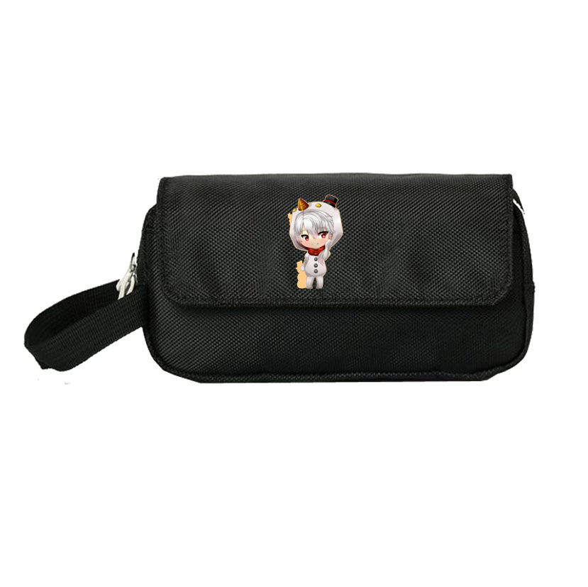 Mysterious messenger pencil case large capacity multi-layer childrens pencil case male and female primary school students pencil case canvas stationery pencil case