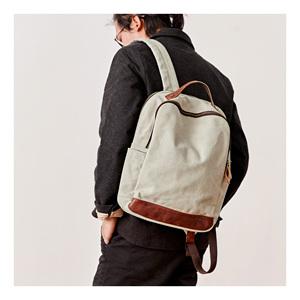 双肩包男休闲帆布双肩背包时尚潮流青年高中学生书包简约旅行背包
