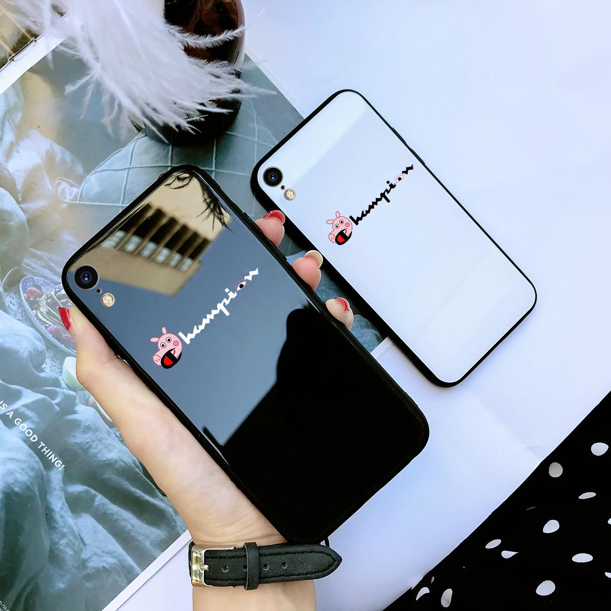 iPhone苹果xr手机壳硅胶玻璃硬壳保护套女创意可爱男大气个性青春超薄卡通高档全包边新款数码简约时尚鼠年
