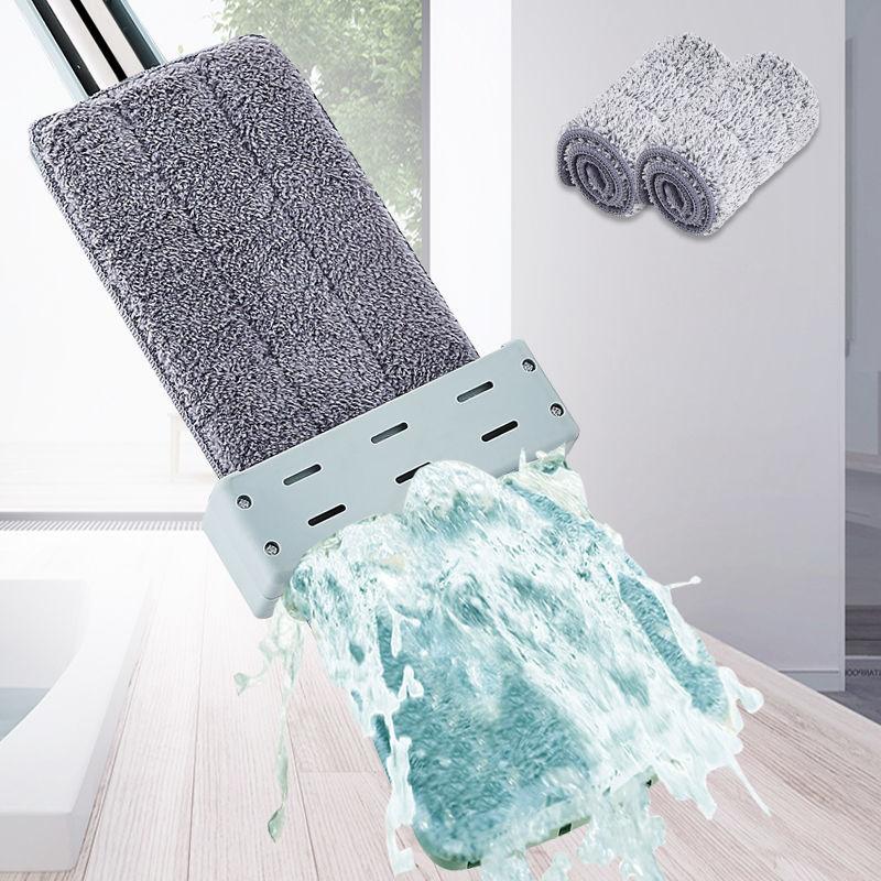 【加粗加大】免手洗平板拖把家用旋转拖把拖地神器懒人拖布墩布